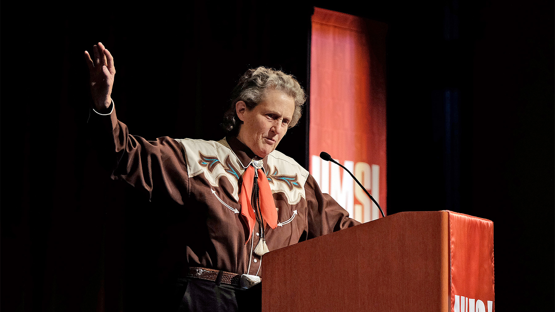 Photo of Temple Grandin by August Jennewein/courtesy of UMSL