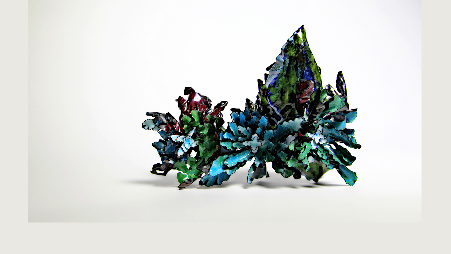 copper and vitreous enamel sculpture, courtesy of the artist, Yingqi Puffy Zhao
