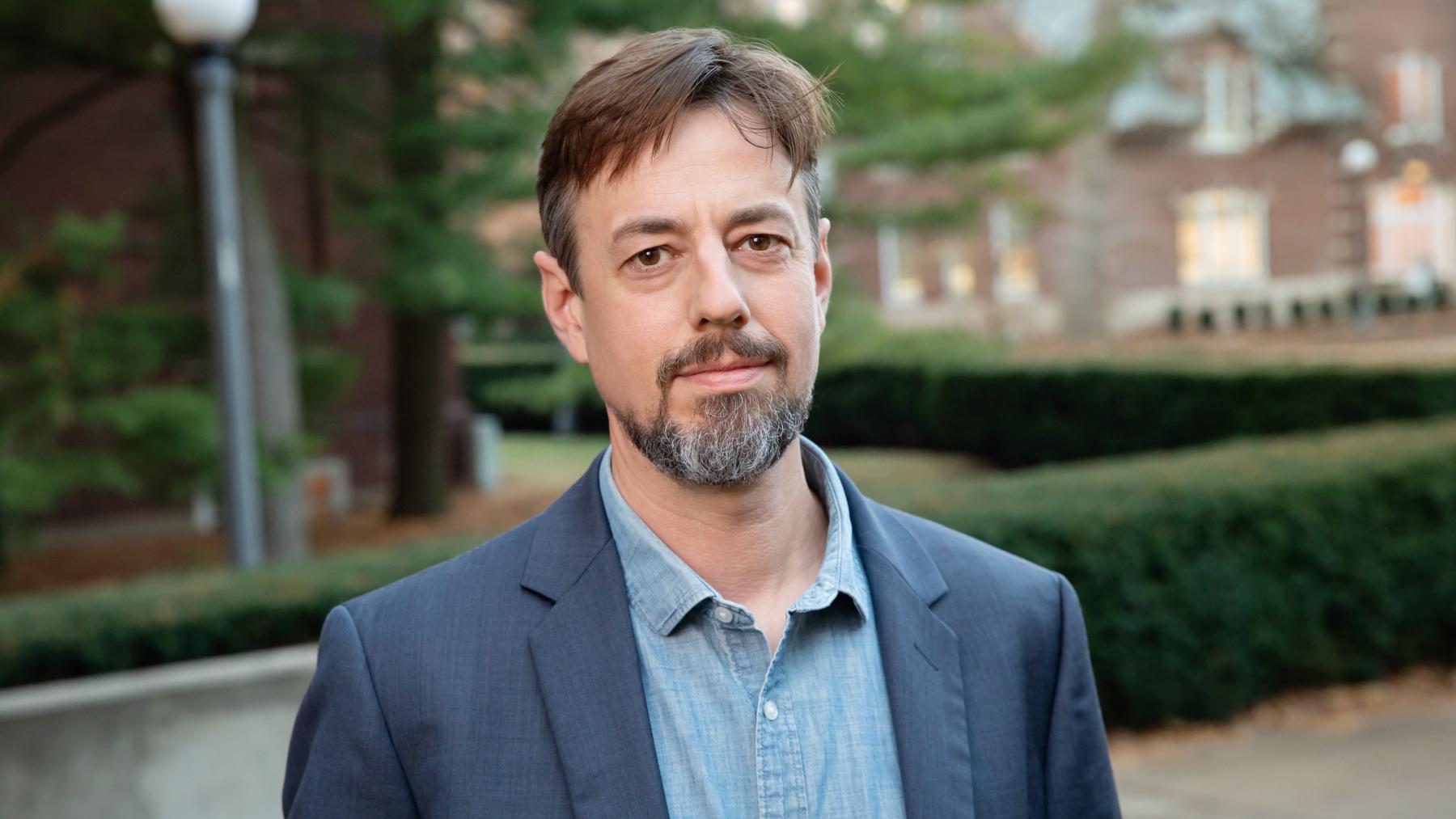 Illinois communication professor Ned O'Gorman.  Photo by L. Brian Stauffer