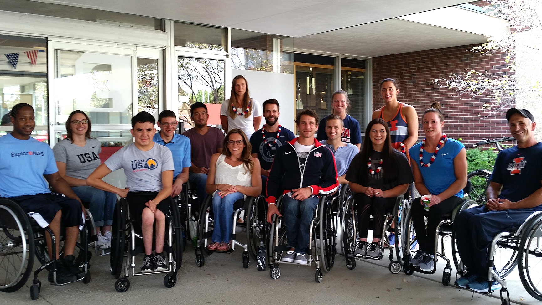 Illini athletes and coaches, pictured here at a send-off celebration, will be heading to Rio de Janeiro, Brazil, at the end of August to compete in the 2016 Paralympics.