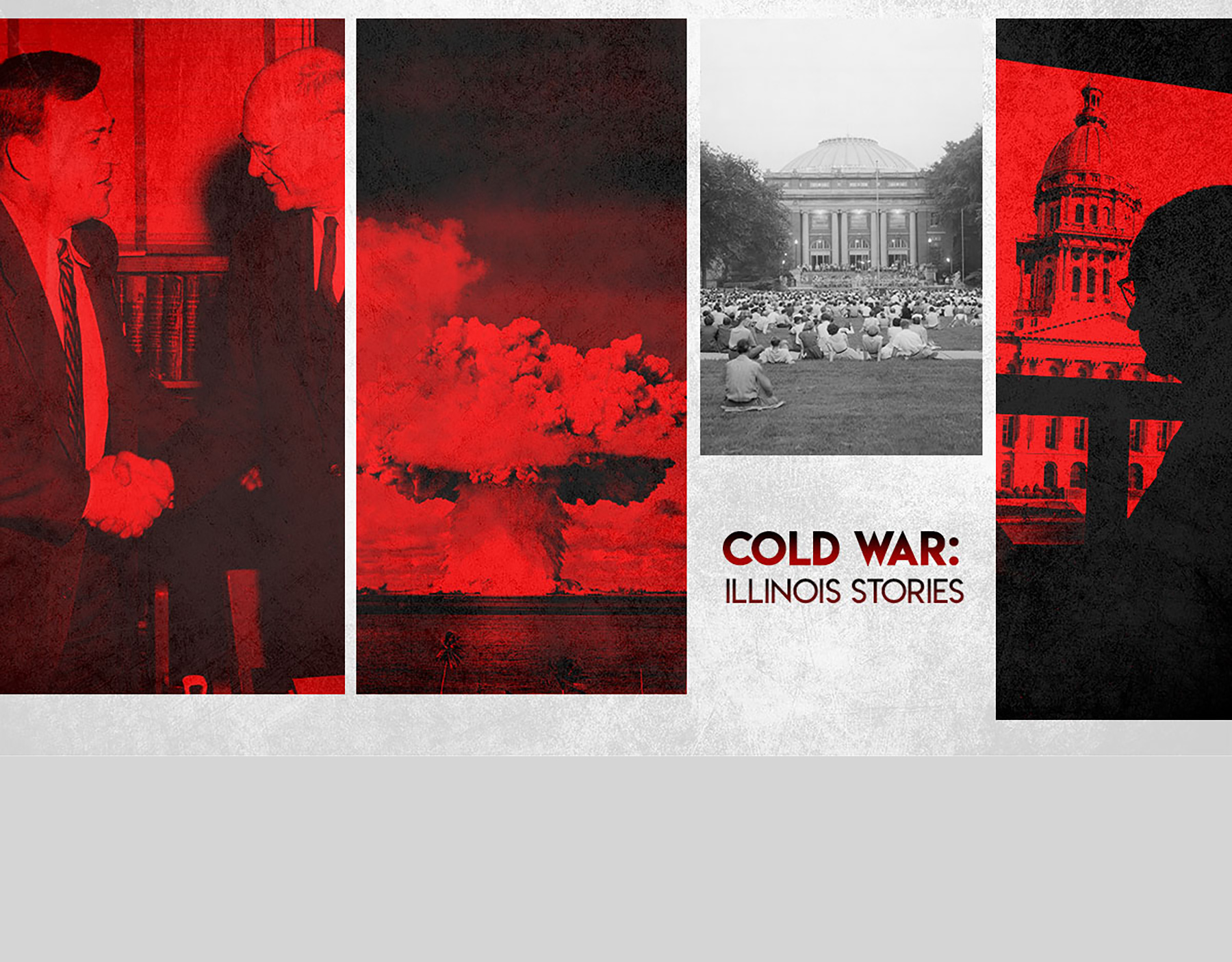 """The Cold War's presence on American universities would have many lasting effects, including the four episodes featured in the new documentary """"Cold War: Illinois Stories.""""  Graphic by Kaitlin Southworth"""