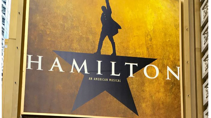 "playbill for 'Hamilton, an American Musical"" provided by Rob Perry"
