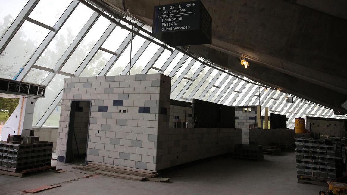 work progressing on the State Farm Center renovation