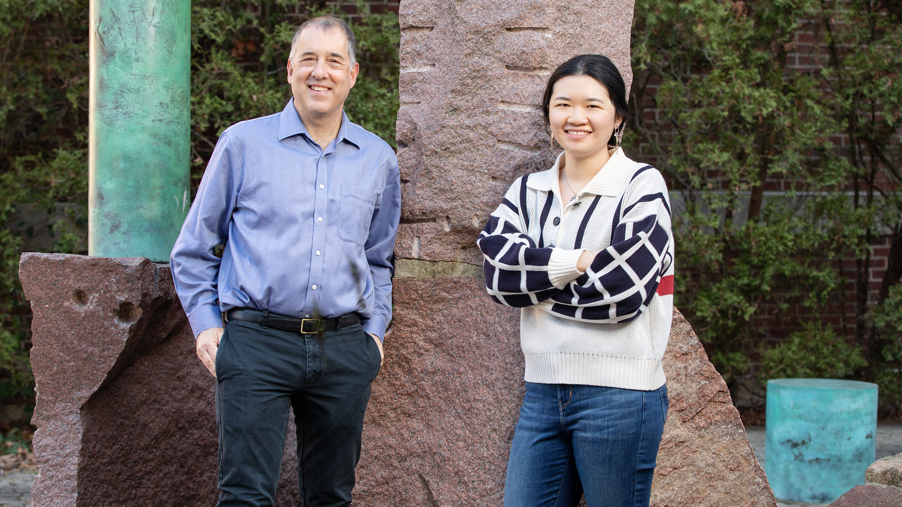 Illinois researchers Andrew Gewirth, left, and Stephanie Chen. Photo by L. B. Stauffer