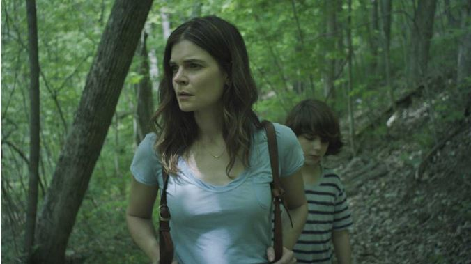 Betsy Brandt as Claire and Zev Haworth as Connor in the psychological drama/thriller Claire in Motion(Breaking Glass Pictures)