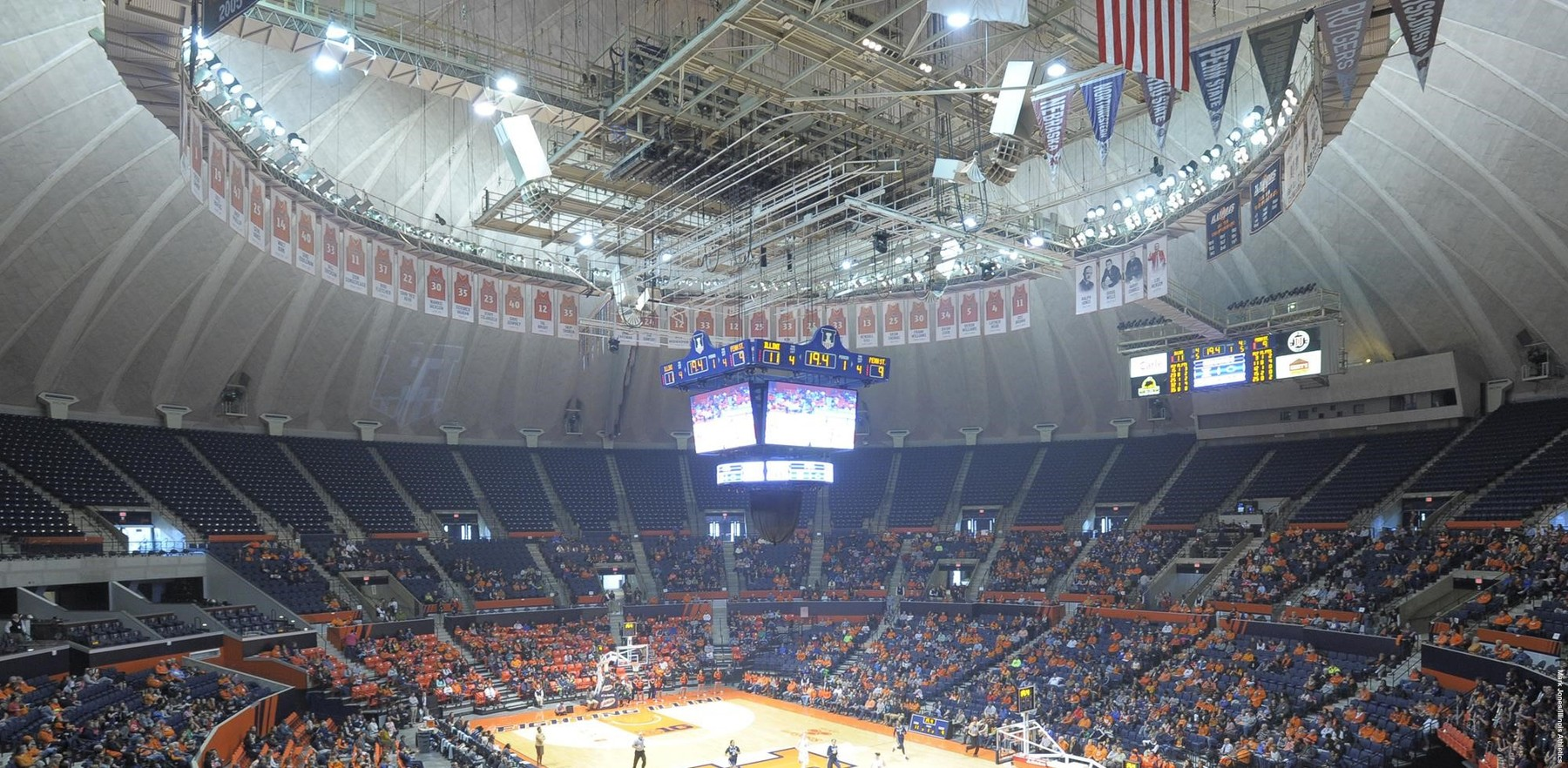state farm center, wide shot of crowd