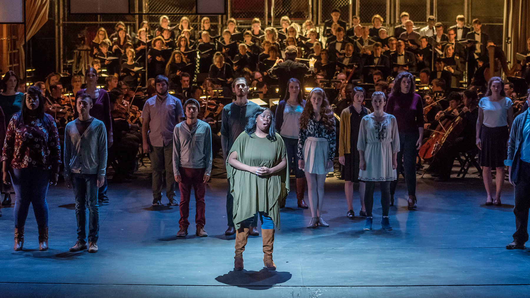 "ShayLyssa Alexander sings the ""Easter Hymn"" from ""Cavalleria Rusticana,"" an opera by Pietro Mascagni, a contemporary of Italian opera composer Giuseppe Verdi. Photo By Darrell Hoemann"