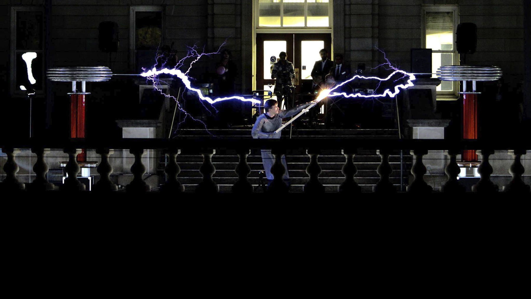 A Tesla Coil concert at Engineering Open House, 2016
