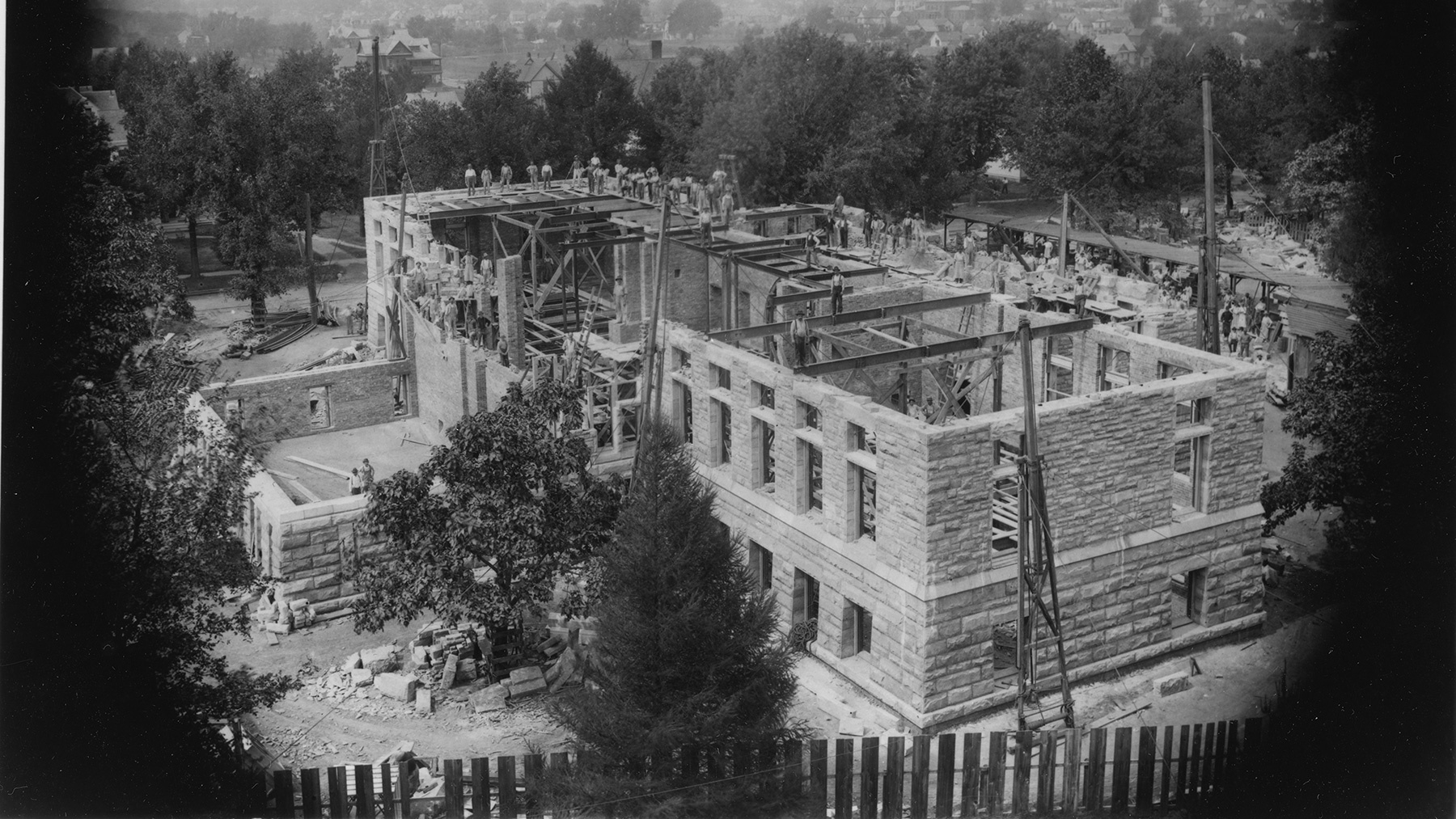Altgeld Hall under construction. Photo courtesy of University of Illinois archives