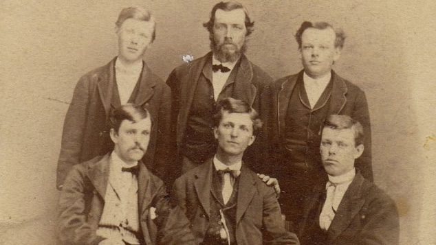 photo of members of the first class at 'Illinois Industrial University.' Photo courtesy of U of I Archives