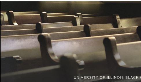 image of church pews taken from Black Sacred Music Symposium poster