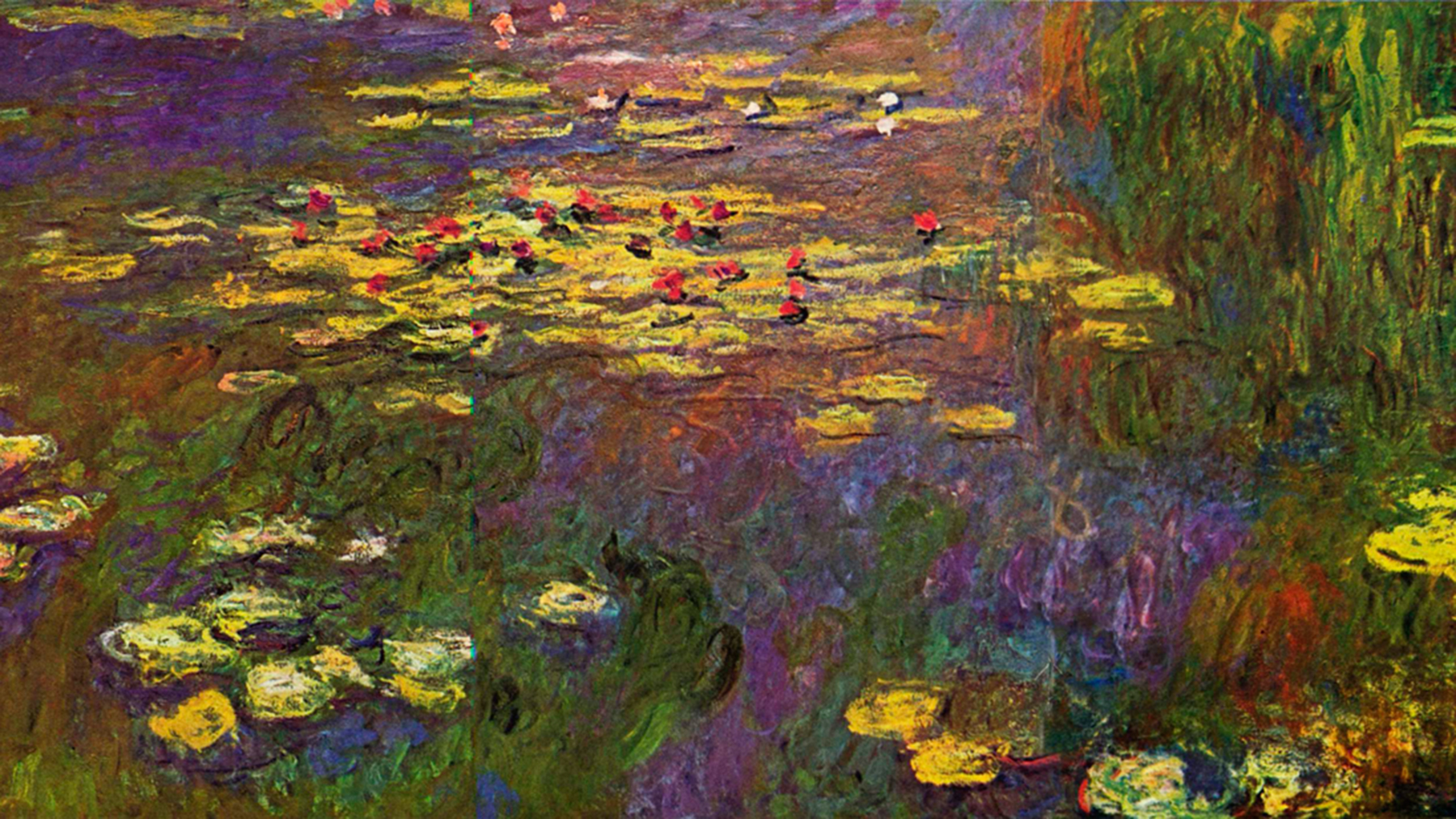 """'Water Lillies"""" by Claude Monet, image from Wikimedia Commons"""