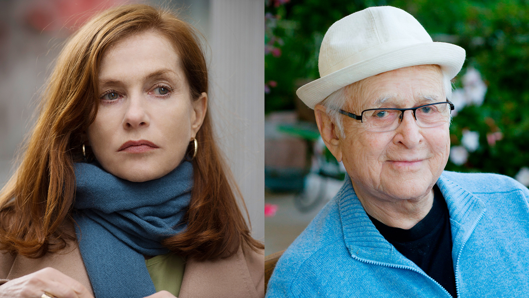 Actress Isabelle Huppert and television producer Norman Lear