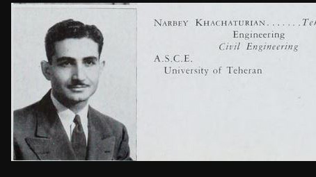 Iranian alumnus Narby Khachaturian. Photo provided by UI Archives