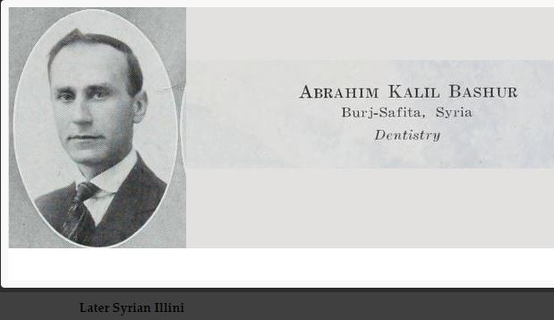 A 1919 Illio profile photo of Mr. Abrahim K. Bashur