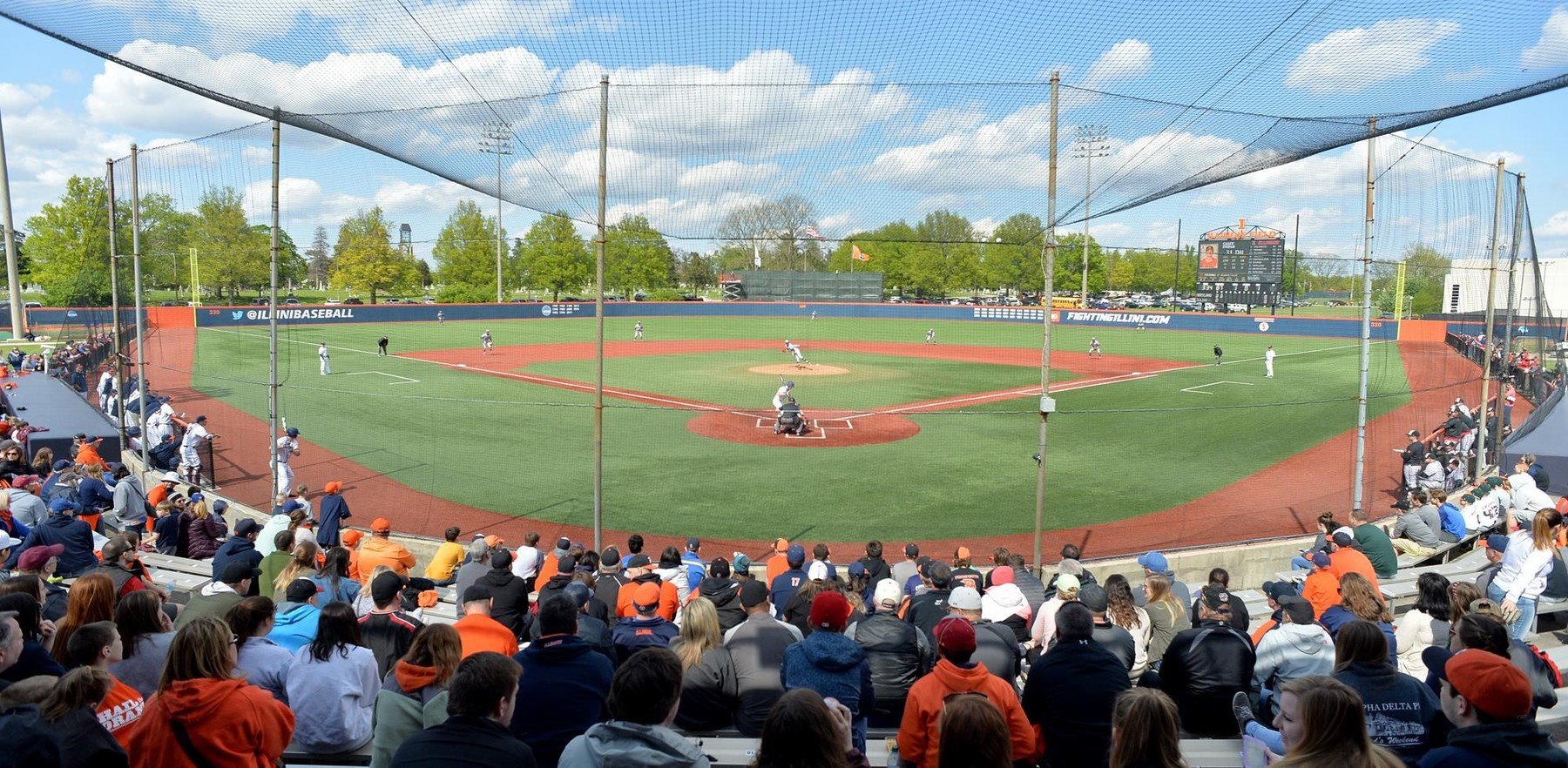panoramic view of Illinois Field