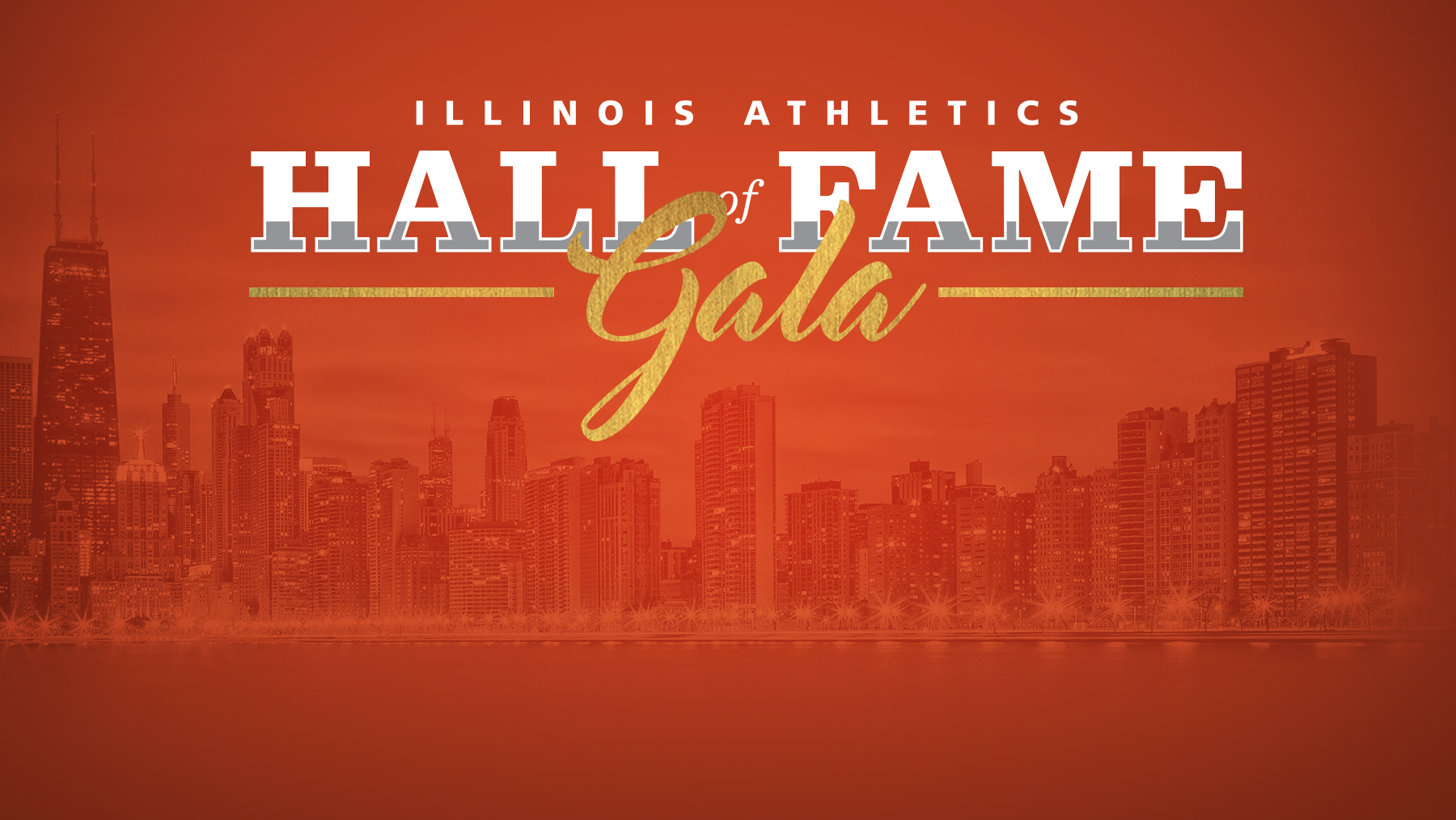 Graphic for Fighting Illini Athletics Hall of Fame gala