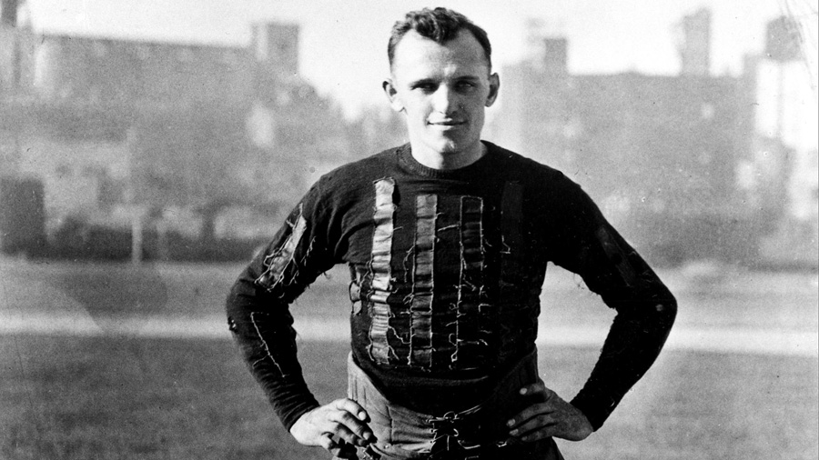 George Halas as a player