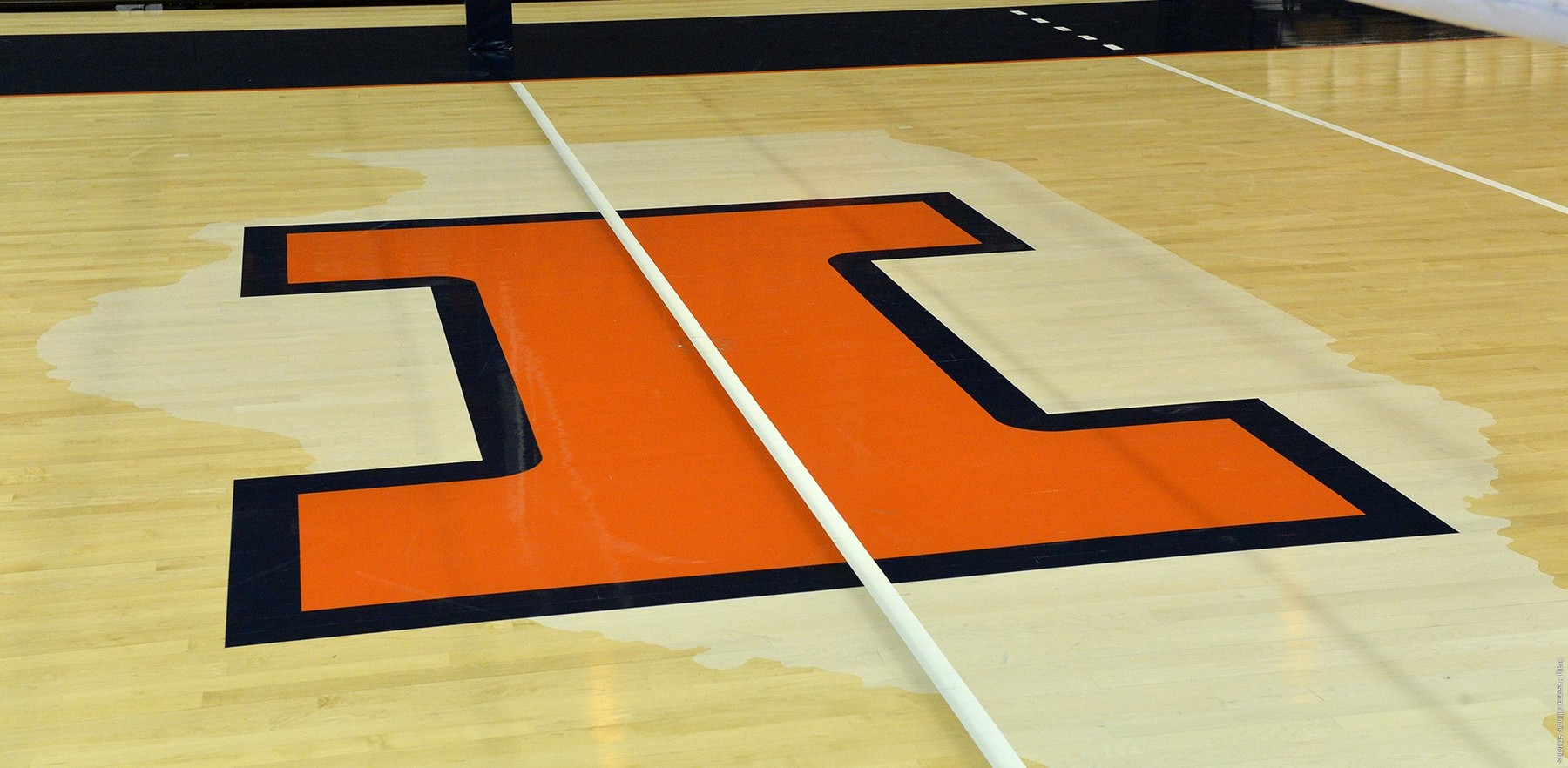 block I at center court of the State Farm Center