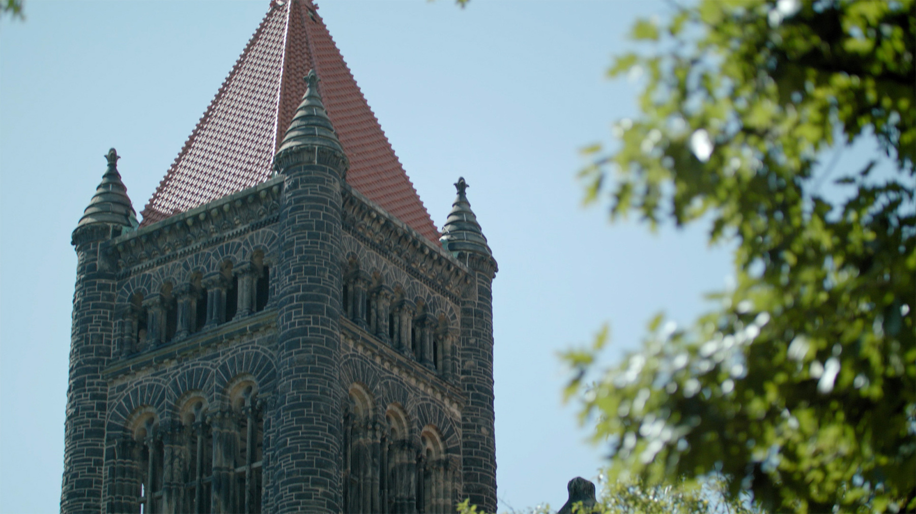 Altgeld bell tower. Still from the video by Video Services | Public Affairs