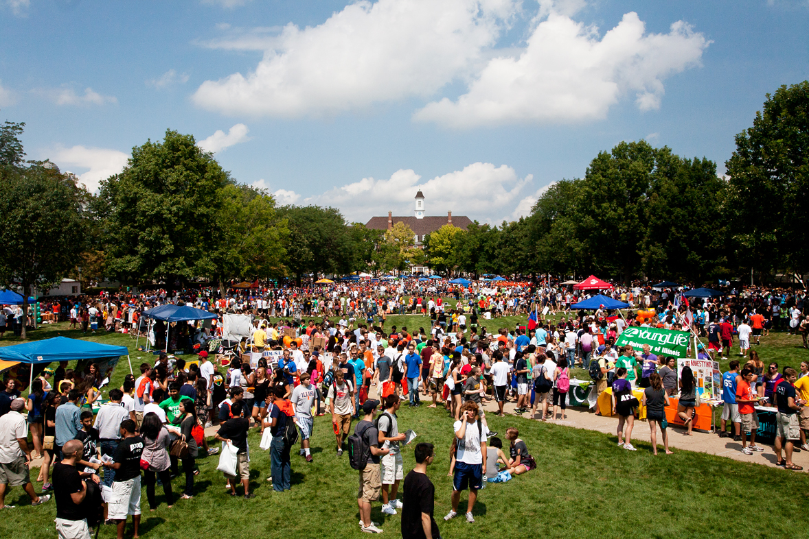 View from Foellinger during Quad Day in 2016 | Photo by L. Brian Stauffer