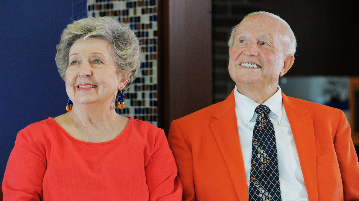 Mary and the late Lou Henson
