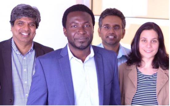 Mechanical Science and Engineering professors Placid Ferreira, Kimani Toussaint, Narayana Aluru, and Elif Ertekin.