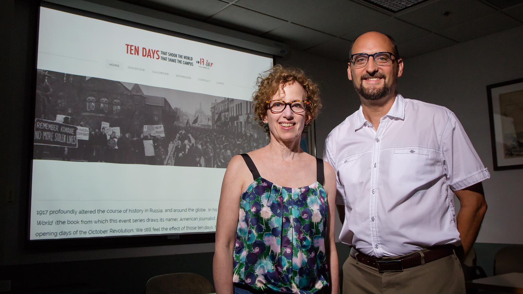 Professors Harriet Murav and David Cooper . Photo by L. Brian Stauffer