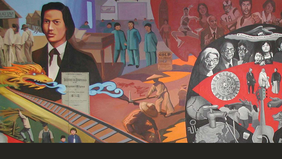 image of a mural from teh Asian American Studies website