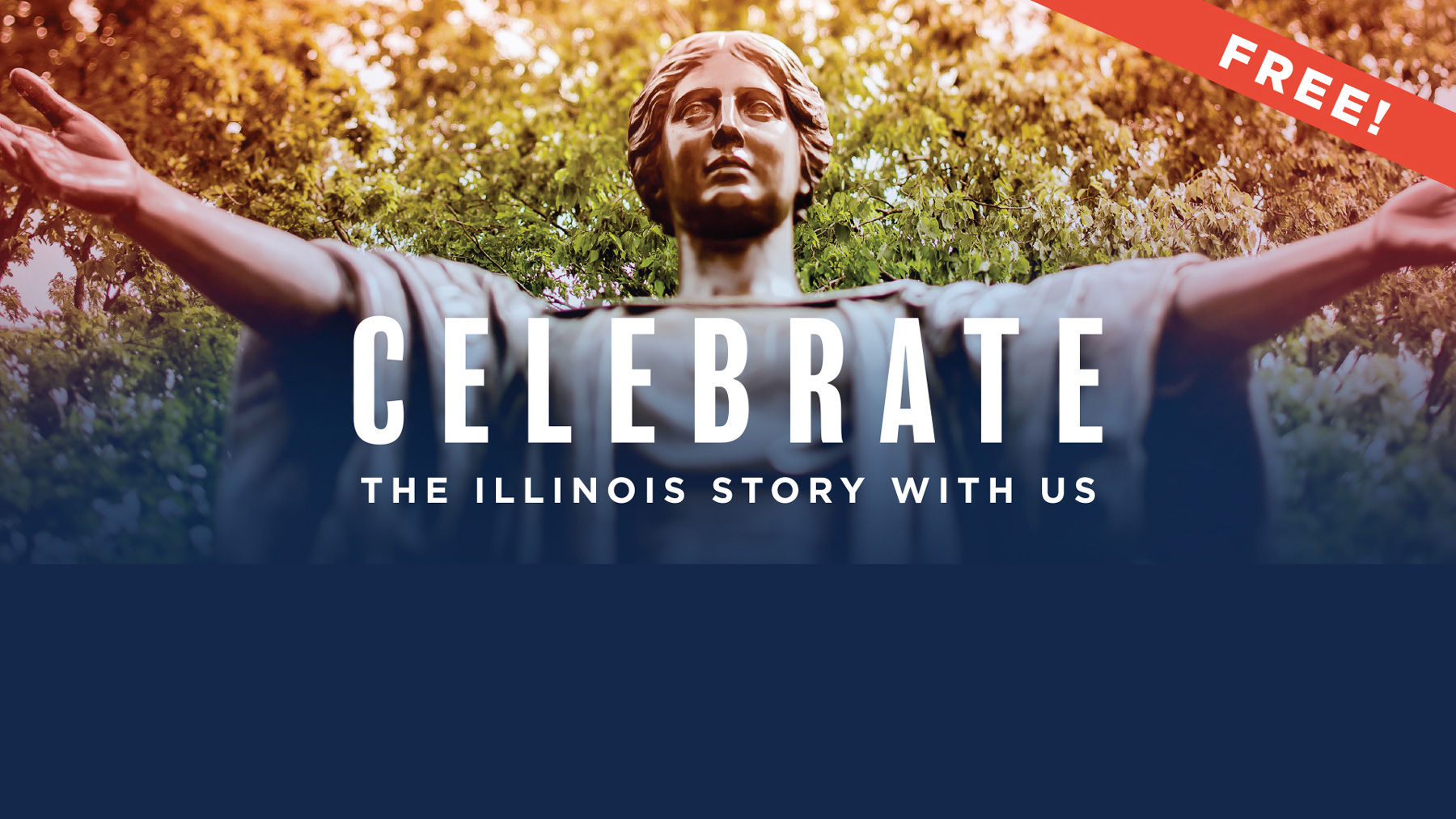 Alma Mater statue featured in 'With Illinois' kickoff event
