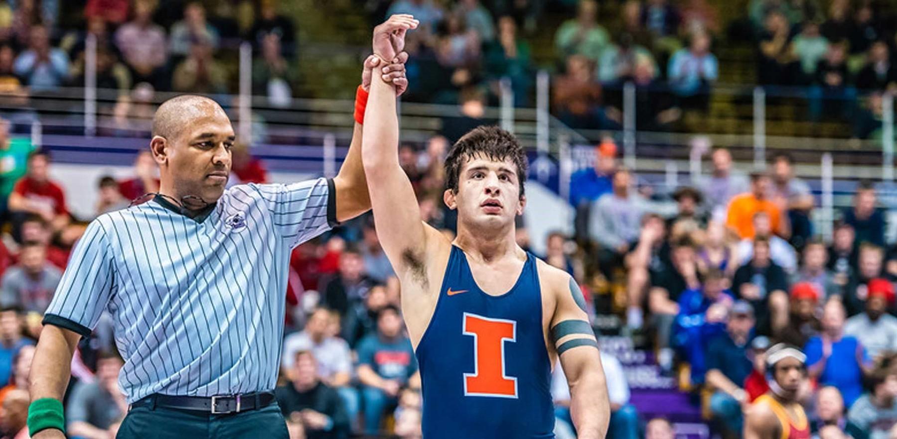 Isaiah Martinez, hand held aloft in victory