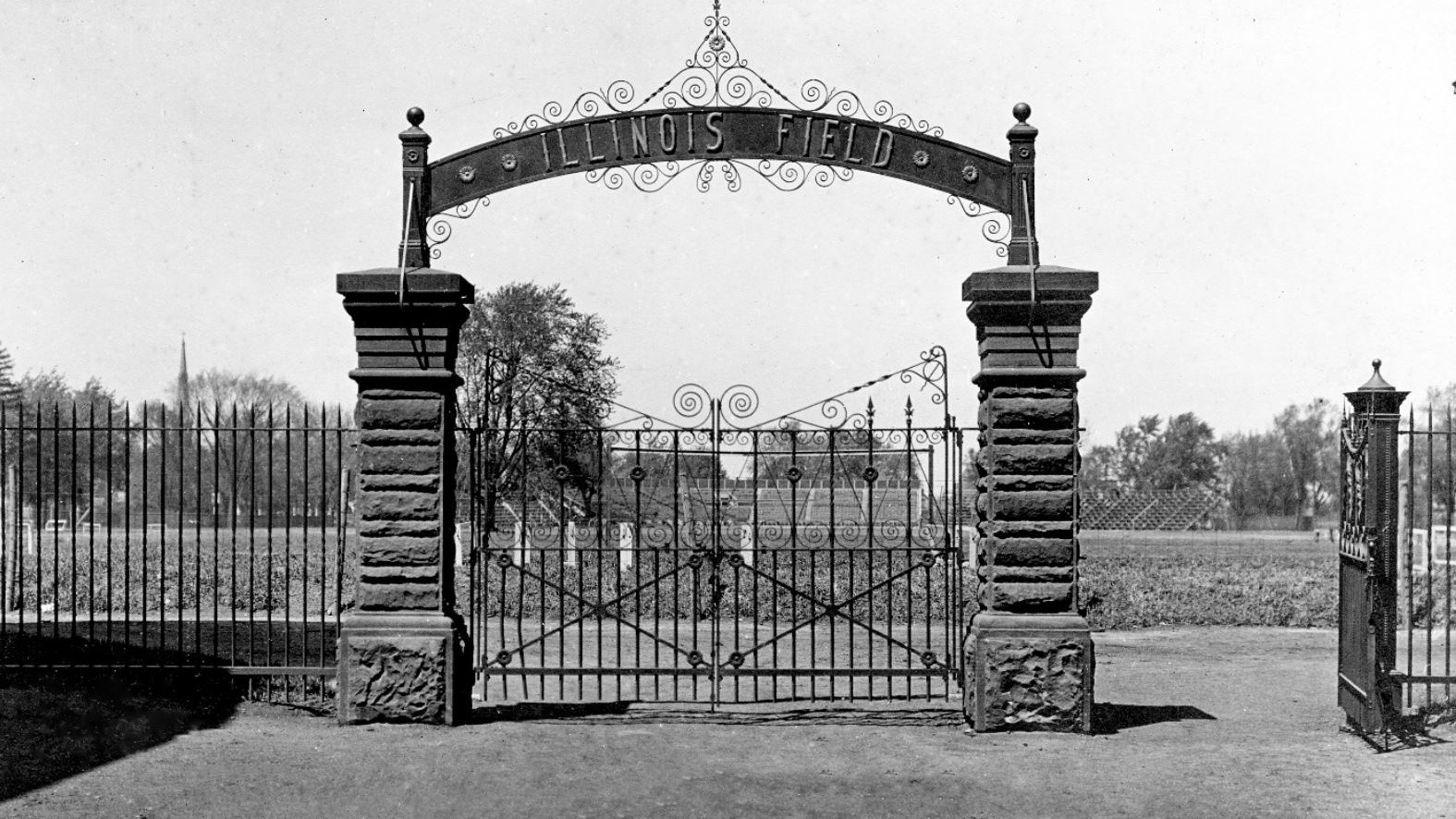 portal to Illinois Field. Photo courtesy of the University Archives
