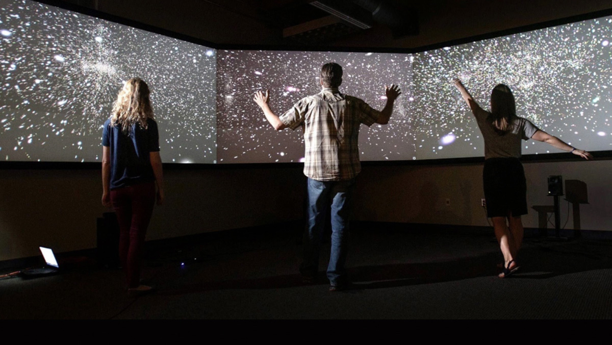 demonstrations will include multimedia art installations that incorporate a person's movement to control visual or audio elements. Photo courtesy of NCSA