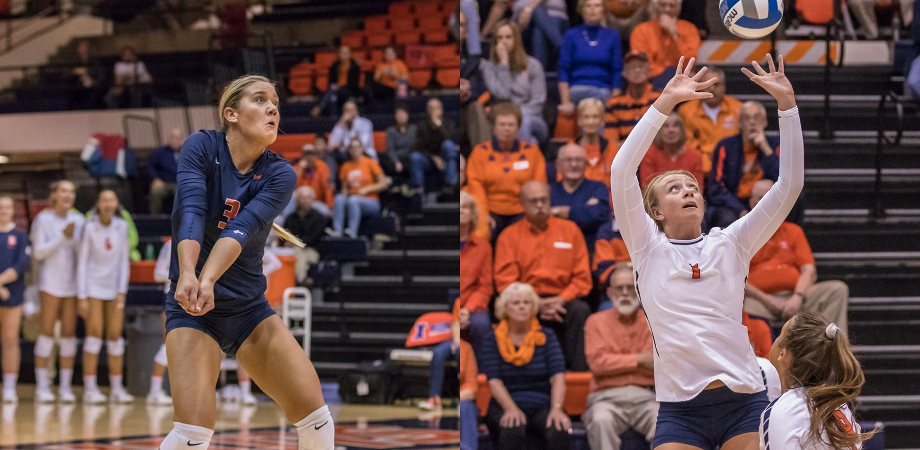 action photos of Brandi Donnelly and Jordyn Poulter