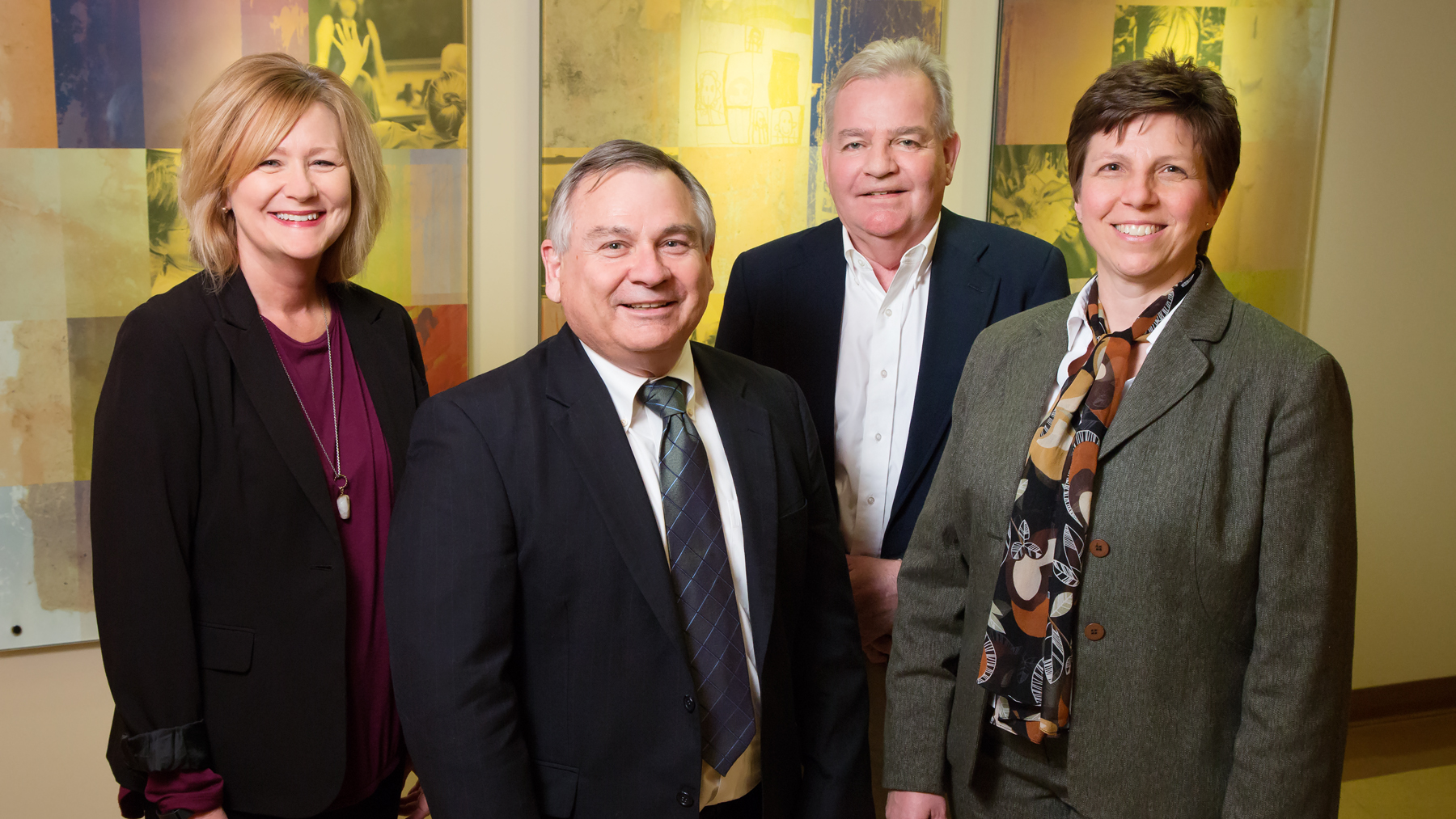 associate dean Mary Maurer; Peter Mulhall, the director of the Center for Prevention Research and Development; and Michael Glasser, an associate dean, U. of I. College of Medicine, Rockford, and program director Janet Liechty