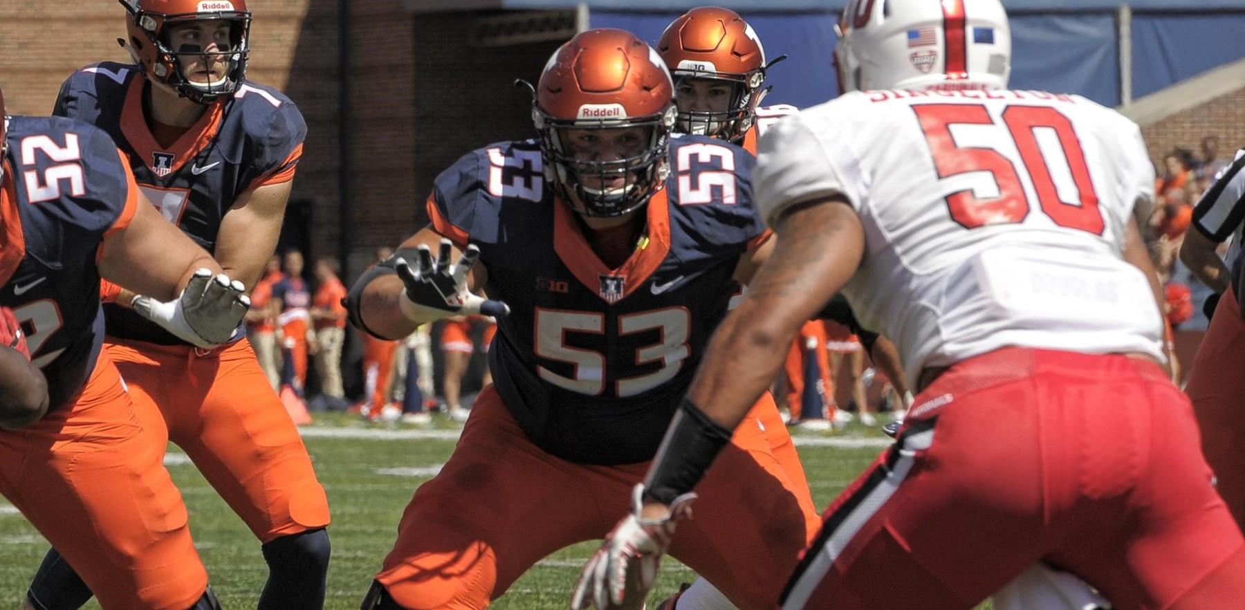illini offensive line guards quarterback