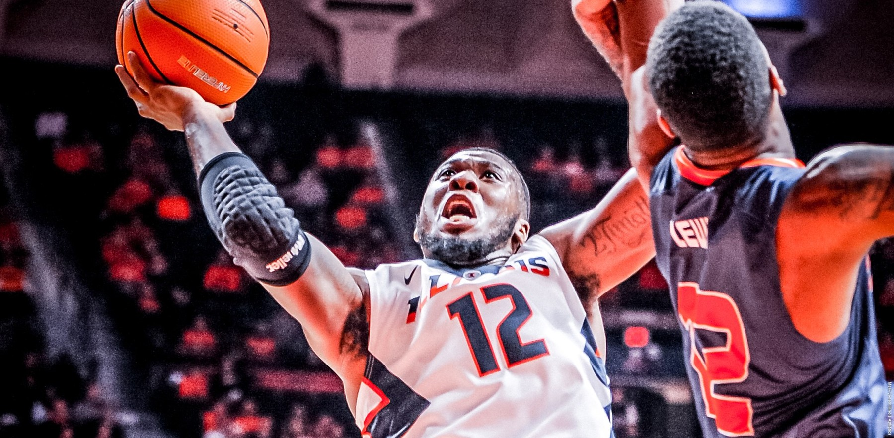 Leron Black goes in for a layup against a UT Martin defender