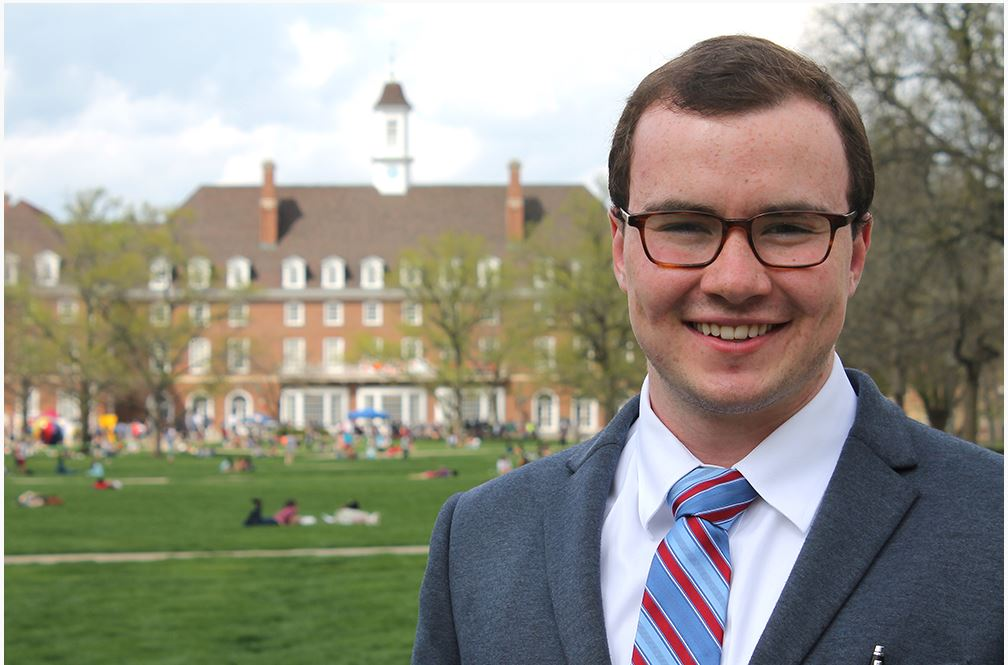 Thomas Dowling, senior in political science and history, has received a Lincoln Academy Student Laureate Award. (Image courtesy of Thomas Dowling.)
