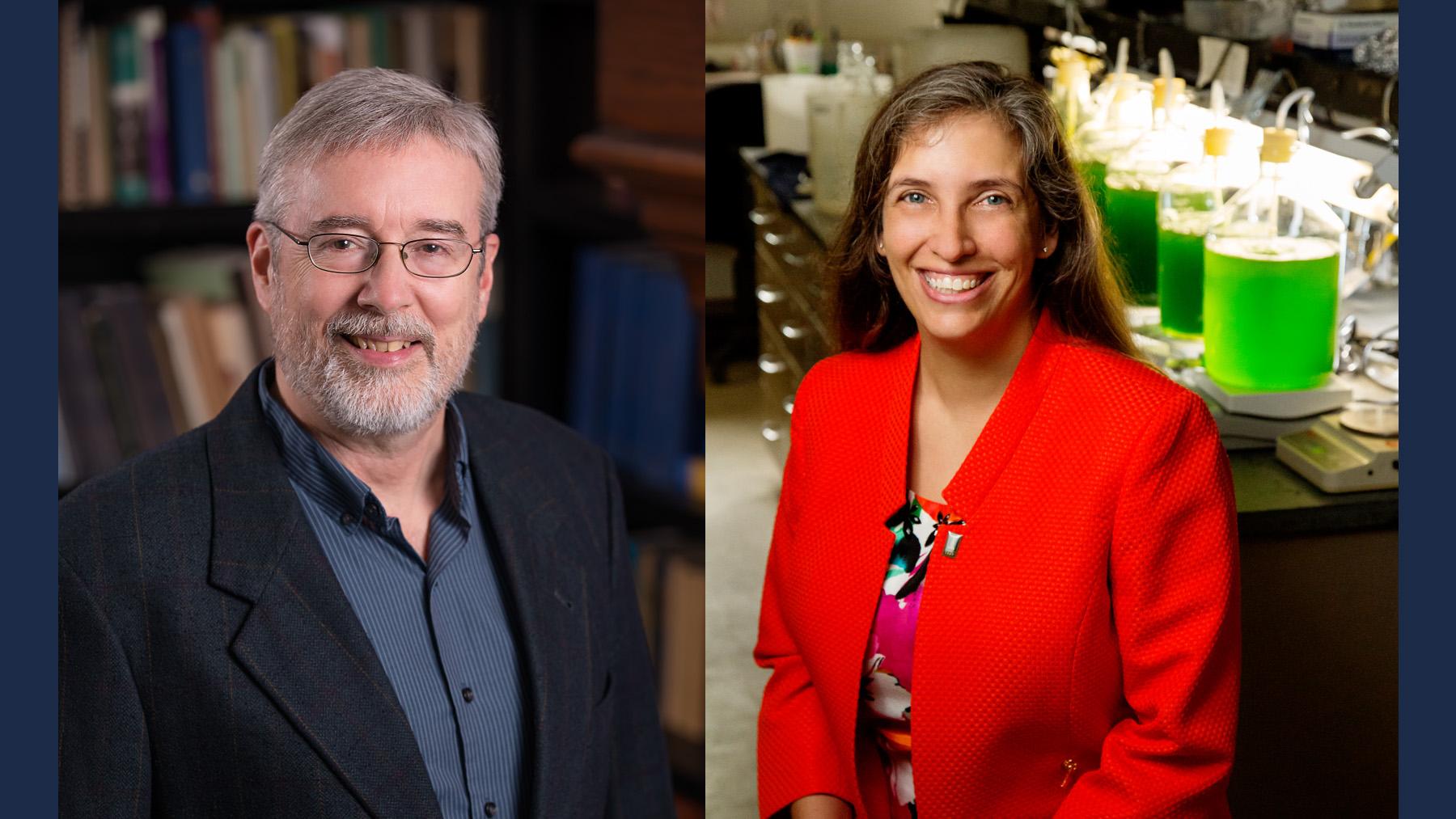 Statistics professor Douglas Simpson and animal biology professor Carla Caceres. Photos by L. Brian Stauffer