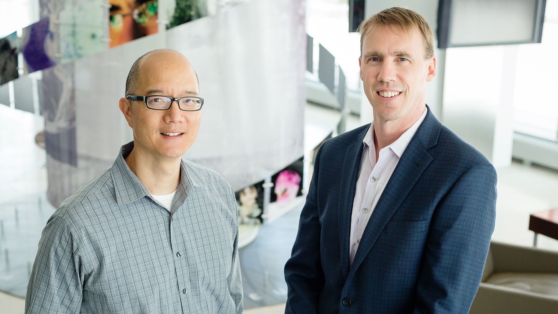 professors Paul Hergenrother and Timothy Fan