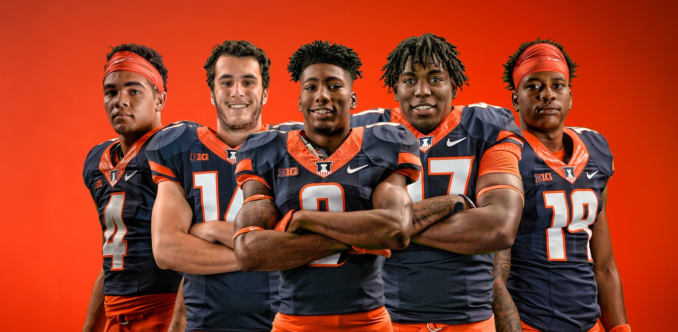 the five freshman football players selected for the honor