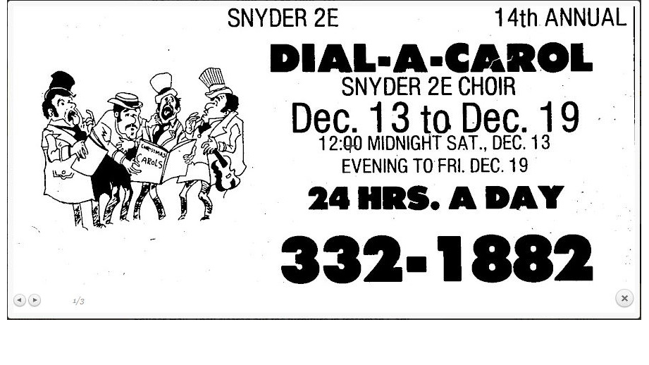 1975 ad for Dial-a-Carol