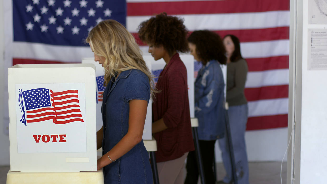 Shutterstock image of voters at the polls