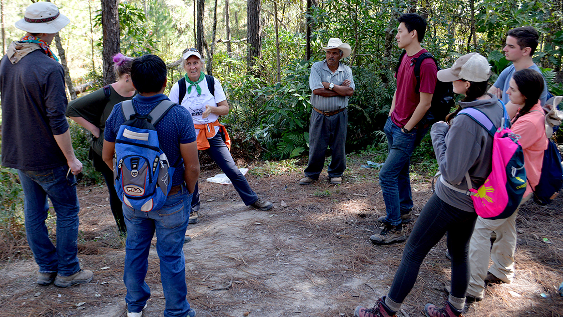 instructor Ann-Perry Witmer speaks to students in the Honduras