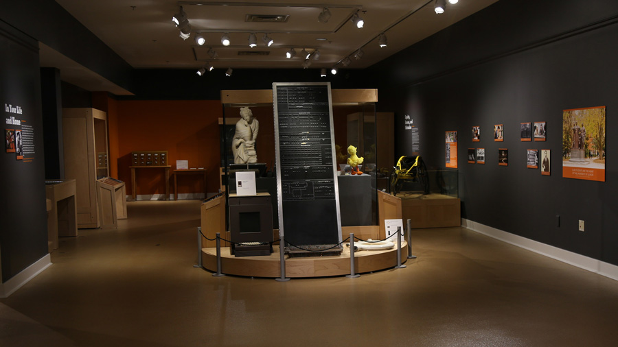 gallery filled with U of I memorabilia