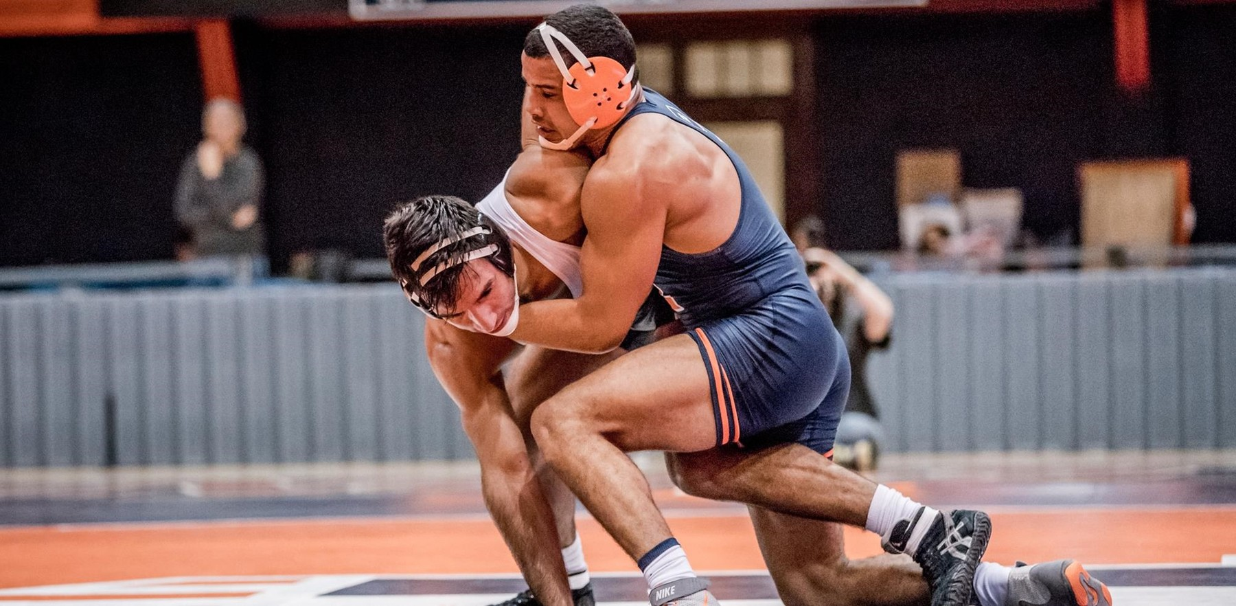 redshirt junior wrestler Emery Parker (184 pounds) has 13 straight wins