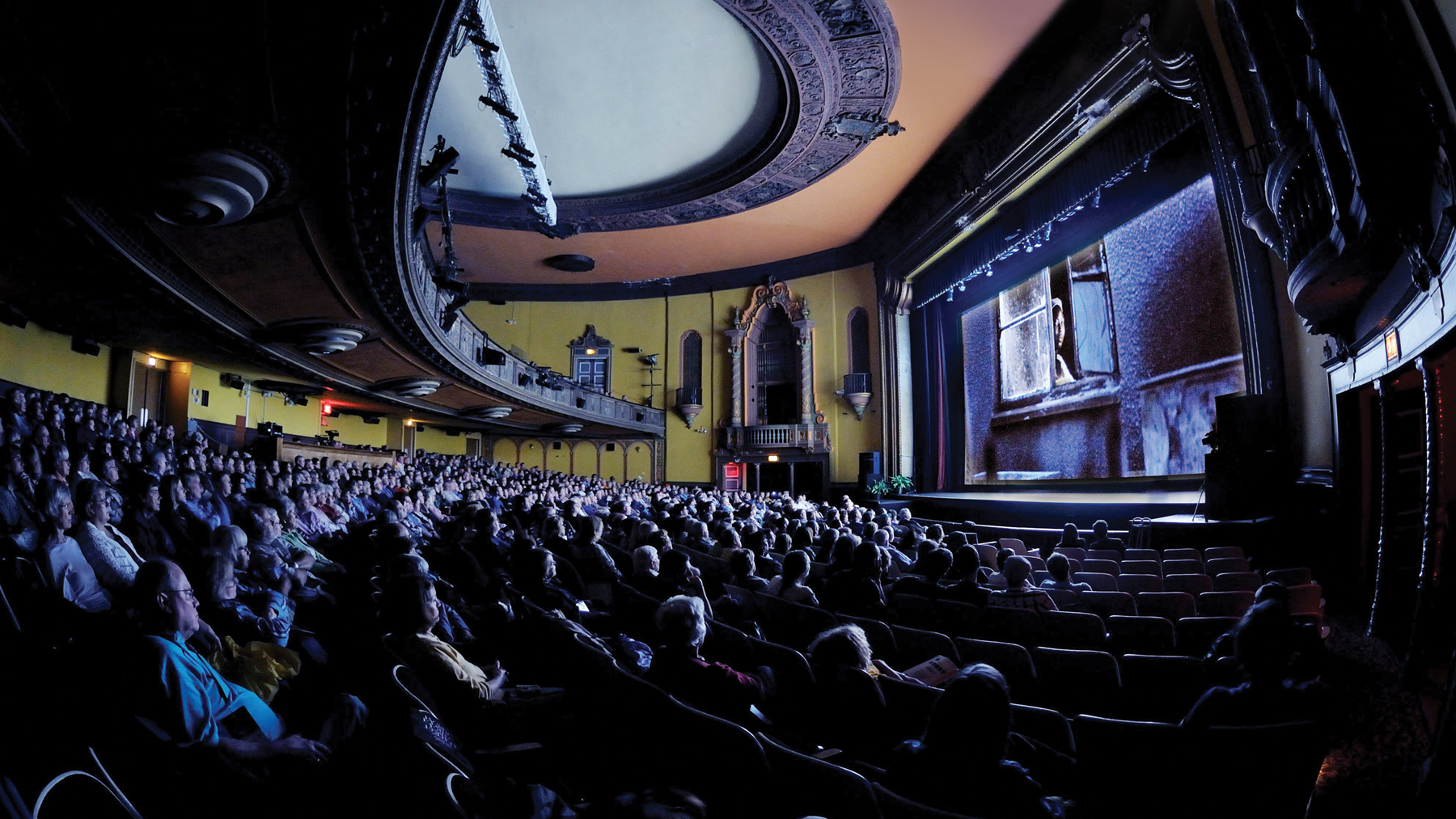Virginia Theatre, home to Ebertfest, opened in 1921. Photo by Thompson-McClellan