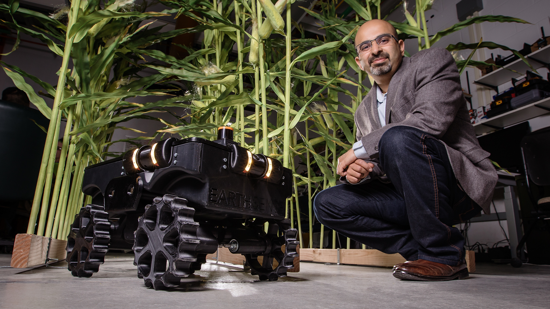 Agricultural and biological engineering professor Girish Chowdhary. Photo by L. Brian Stauffer