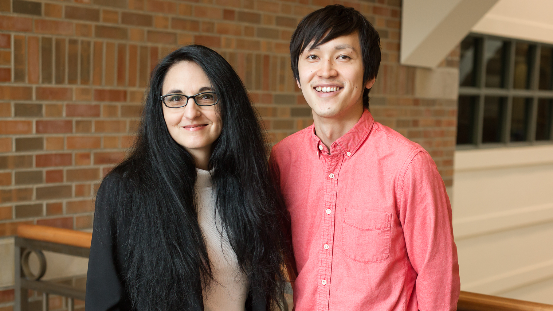 Psychology professor Sanda Dolcos and graduate student Yuta Katsumi. Photo by L. Brian Stauffer