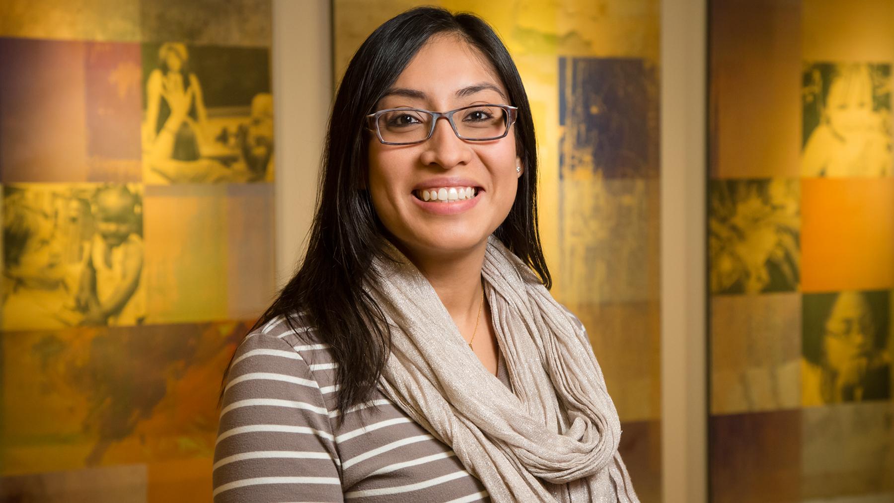 professor Rosalba Hernandez. Photo by L. B. Stauffer